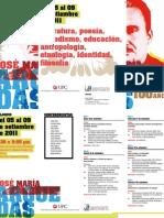 COLOQUIO ARGUEDAS. Del 5 al 9 de setiembre de 2011
