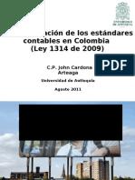 Implementación de los estándares contables en Colombia -Ley 1314 de 2009