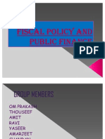 Fiscal Policy and Public Finance