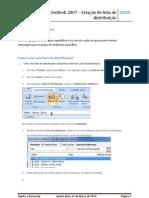 Objectivo do Documento - Outlook criar lista distribuição
