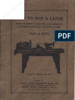 South Bend How to Run a Metal Lathe