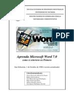 Aprenda Microsoft Word 7.0 Como Si Estuviera Ern Primero