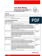 Focus on Oracle Data Mining