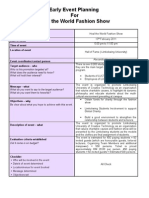 Early Event Planning Template