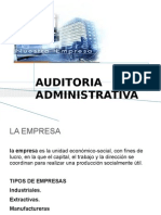 Expo Sic Ion Unidad v. Auditoria Administrativa