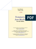 Jean Meslier - Testament