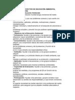 DISEÑO DE PROYECTOS DE EDUCACIÓN AMBIENTAL
