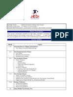 JEDI Course Curriculum - OOAD