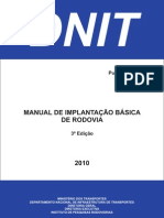 Manual Implantacao Basica Rodovia Publ Ipr 742