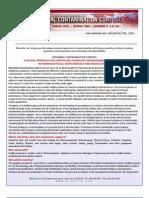 Microbial Contamination Control -Planktonic Microorganisms and Biofilms, Mumbai, India ,November 2011
