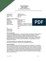 UT Dallas Syllabus for ob6301.mbc.11f taught by Laurie Ziegler (ziegler)