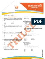 Solucionario Matemática - Admision UNI 2011-2 - Trilce