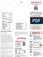 Newsletter 21 August 2011