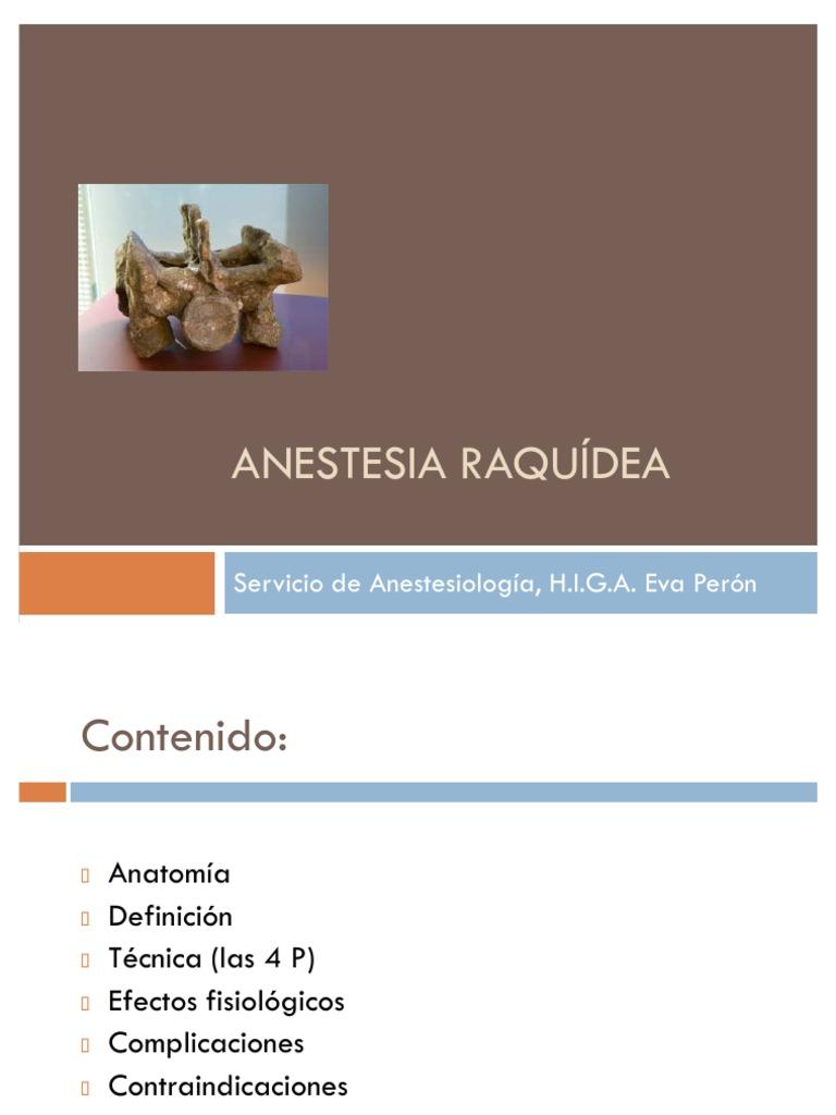 Anestesia Espinal O Raquidea Pdf