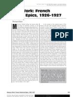 Abel, French Historical Epics 1926-27