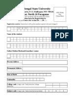 BEd Reg Form 2011