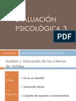 Evaluación Psicológica 3