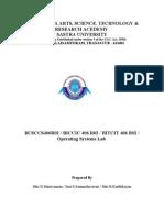 Operating Systems Lab Manual JNTU