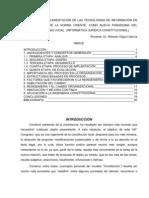 IMPLEMENTACIÓN DE LAS TECNOLOGÍAS DE INFORMACIÓN EN LA REINGENIERÍA DE LA NORMA VIGENTE PONENCIA DR ROBERTO OLGUIN GARCIA