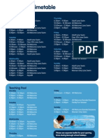 Malden Centre Swimming Timetable
