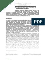 La política de formación docente desde el proyecto de modernización educativa.