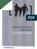 438. La insurrección que llega - Tiqqun. Comité Invisible