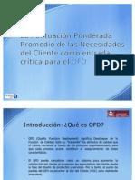 La Puntuación Ponderada Promedio - QFD_share