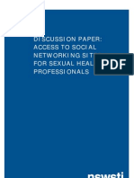 Draft Discussion Paper - Access to Social Networking Sites for Sexual Health Professionals-1