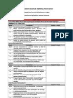 Assessment Grid for Speaking Proficiency