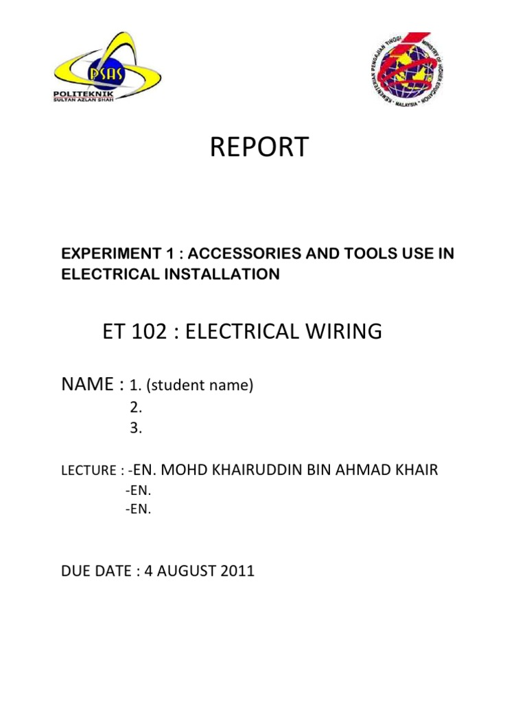 Et 102-Electrical Wiring1 | Electrical Wiring | Cable