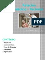 Relacion médico . paciente