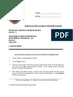 Percubaan PMR 2011 Sabah KHB KT