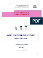 QUS 103 -Basic Engineering Science (Theory)