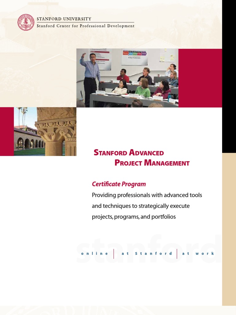 Stanford Advanced Project Management Brochure Strategic Management