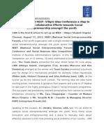 LIBA Conducted NSEF- Villgro Idea Conference a step to facilitate Collaborative Efforts towards Social Entrepreneurship amongst the youth