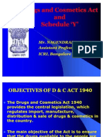 7211994 Drugs and Cosmetics Act and Schedule Y