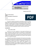 Carta Abierta Del PRO Al Alcalde
