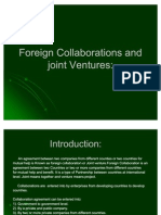 Foreign Collaborations and Joint Ventures