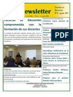 Facultad de Educación, Universidad Mayor Newsletter 4