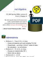 Lecture 8 Alg
