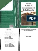 Bunge-Crisis y Reconstrucción de la Filosofía