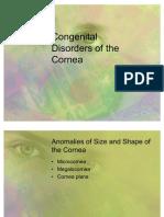 Congenital Disorders of the Cornea