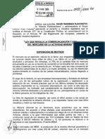 Proyecto Ley 03055 Uso de Mercurio