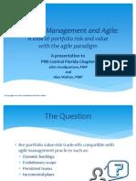 Portfolio Management and Agile