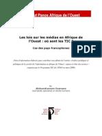 TIC Dans Les Lois Sur La Presse en Af Ouest_note_finale