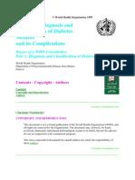 World Health Organization 1999