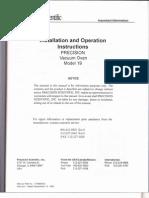 Vacuum Oven Operation Manual