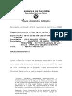 (1992-06483) 2009-00366 Jorge Alvarez Vergara vs Ministerio de Transporte y Otros FALLO SEGUNDA INSTANCIA