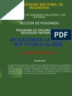 NTP 17799 en la ONPE