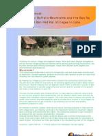 Phu Khao Khouai.   The Water Buffalo Mountains and the Ban Na  and Ban Had Kai Villages in Laos